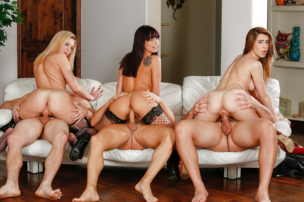 hot blonde orgy