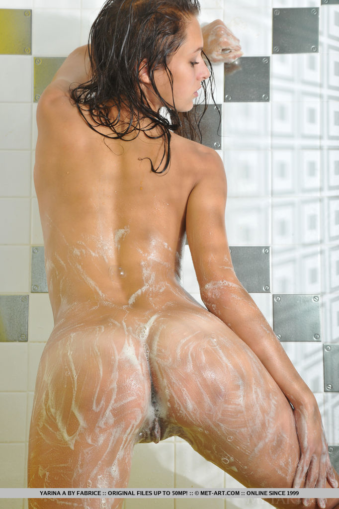 women Soapy shower amateur