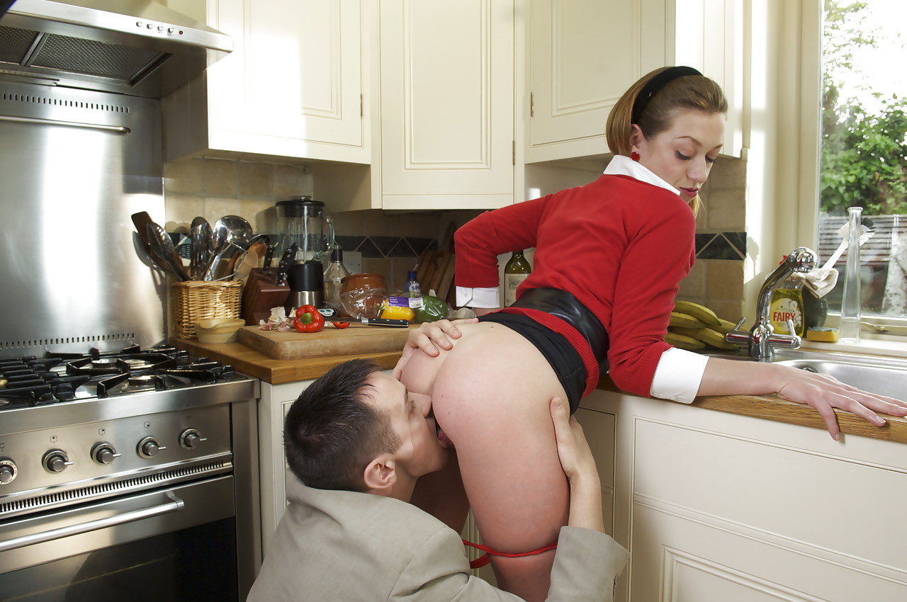 wife sex in kitchen