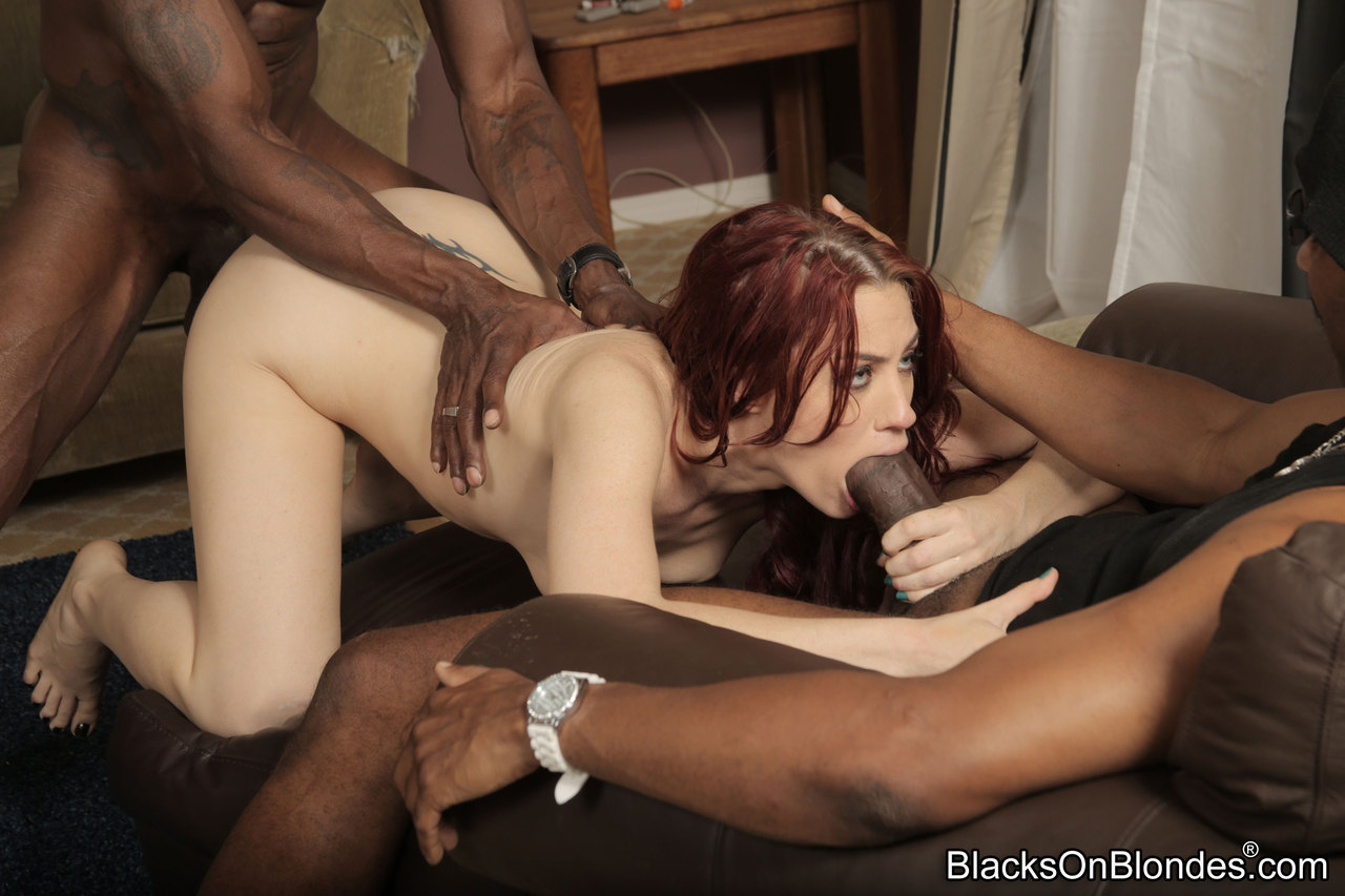 pale redhead tatooes interracial