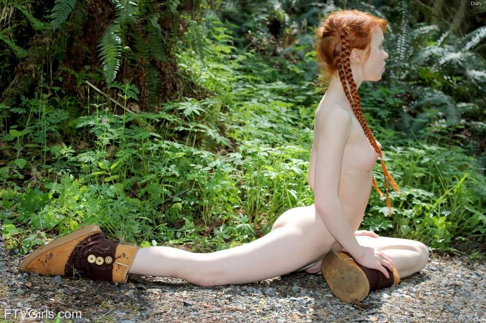 Nude teen forest
