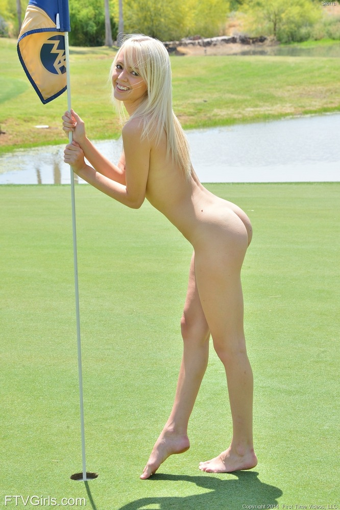 Porn gurls playing golf pity