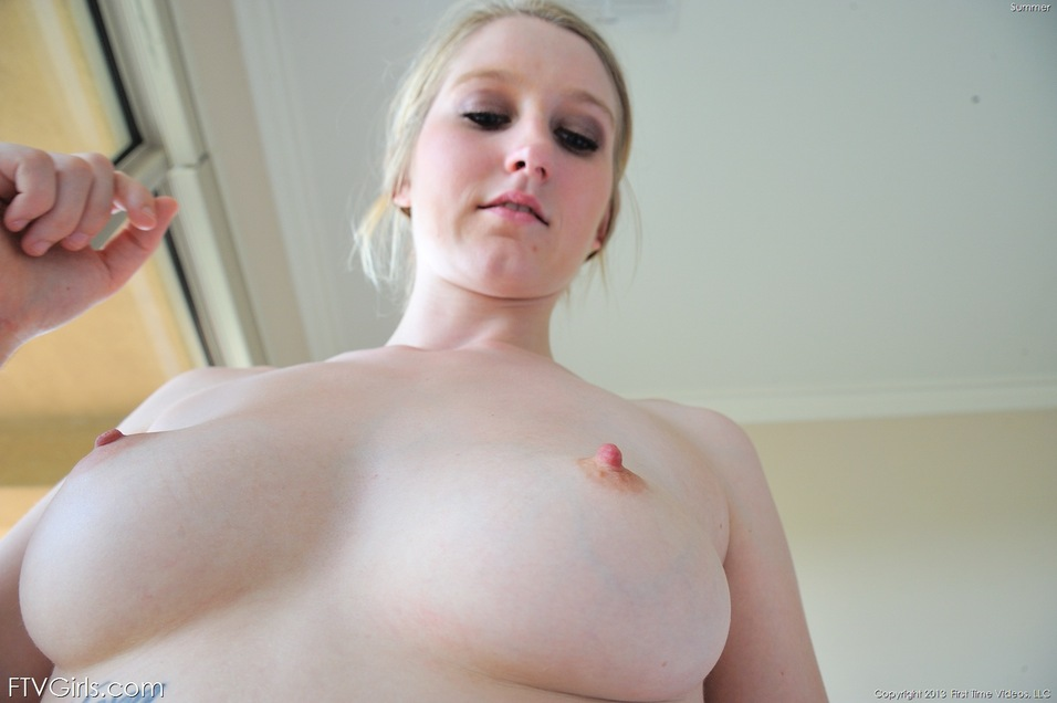 Huge tits large gauge piercings