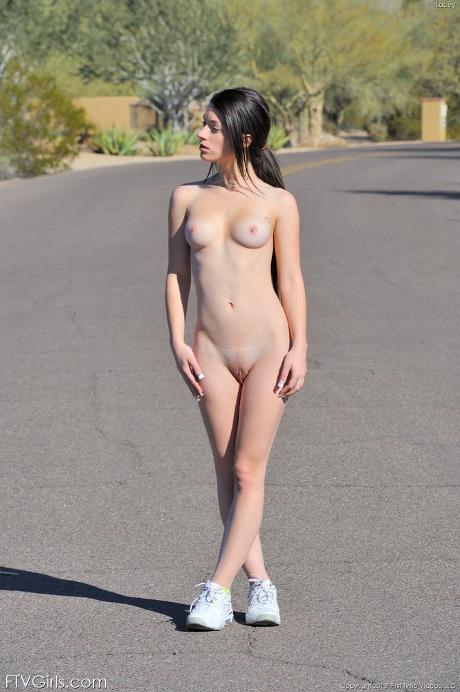 Needle in nude pussy