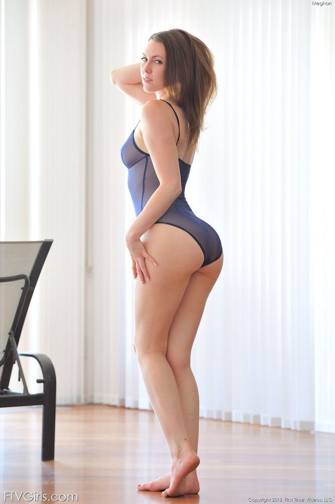 Sexy Brunette Posing In See Through Bikini Part Two