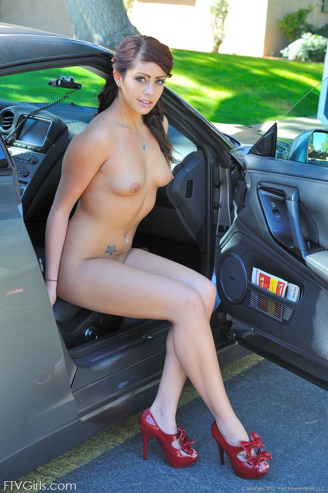 What Naked girls posing on cars sorry