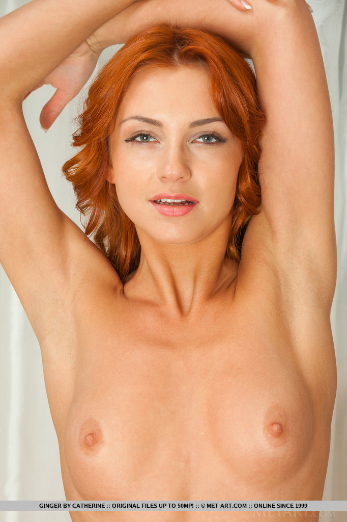 Teen redhead enjoys hot