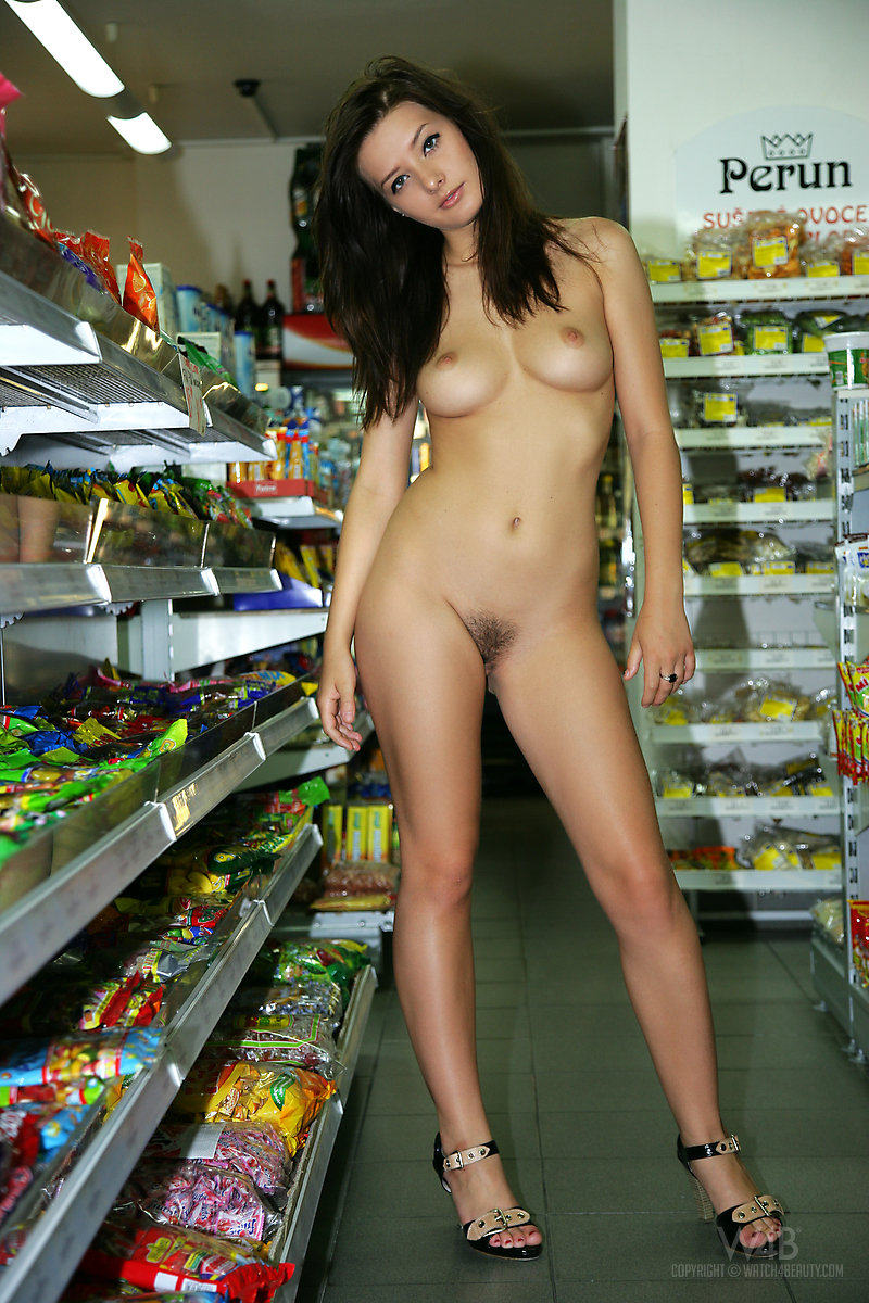 Girl nude in store