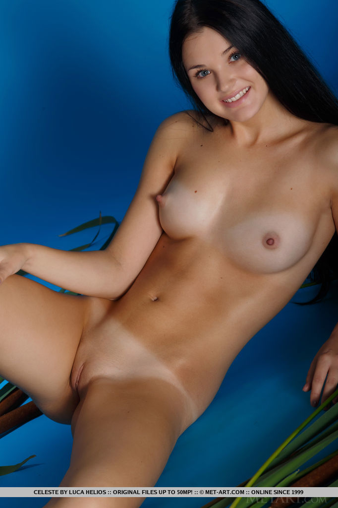 Found Hot girl dark brown naked