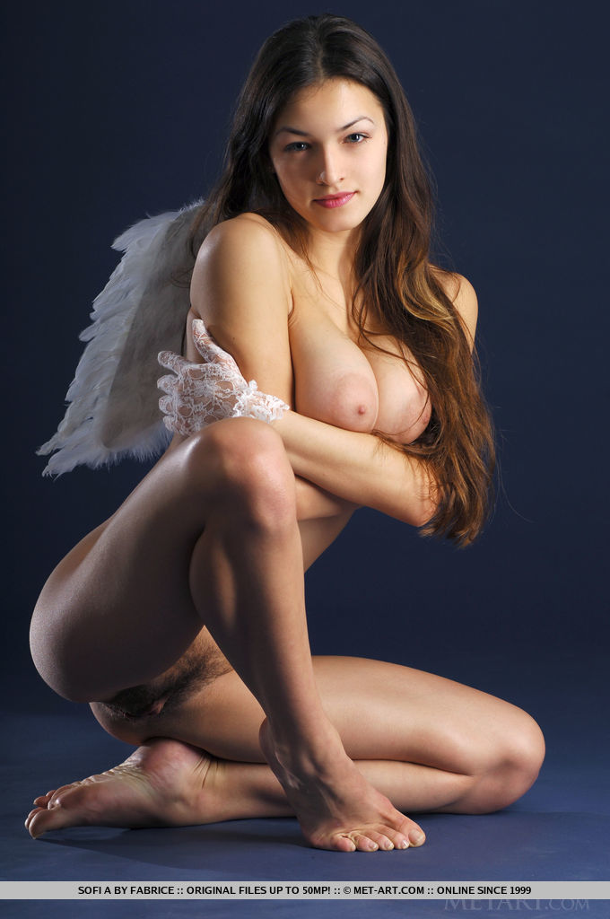 woman nude butt wings