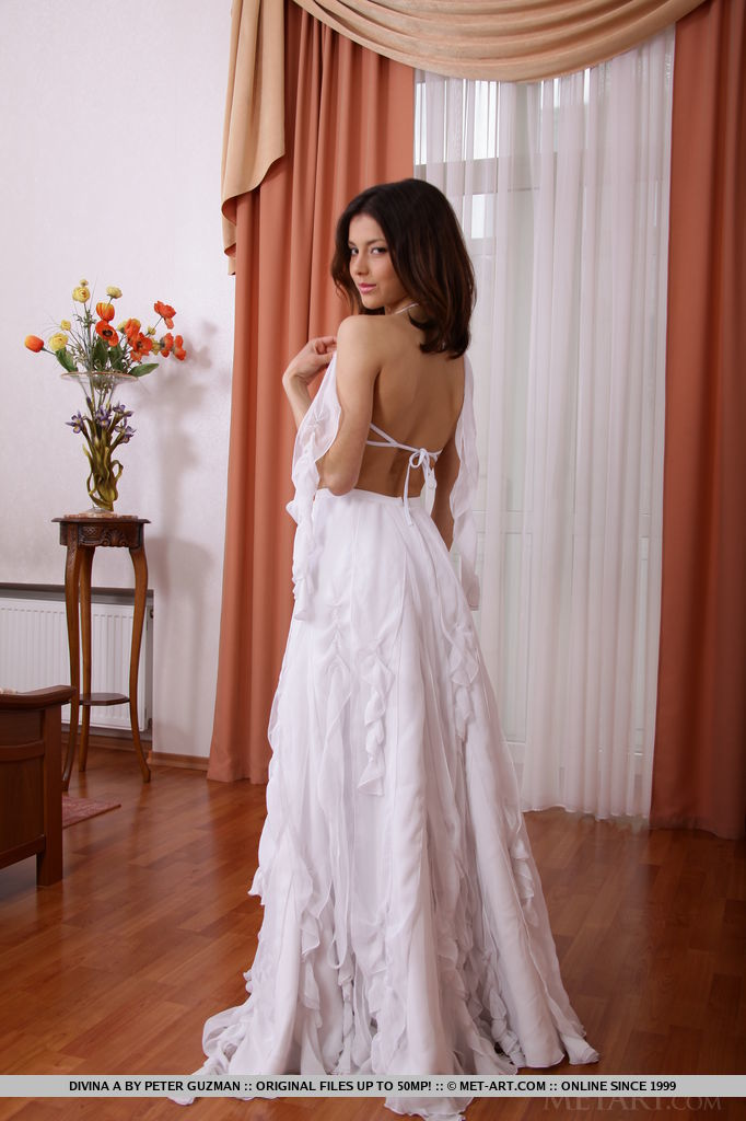 stripping wedding dress nude