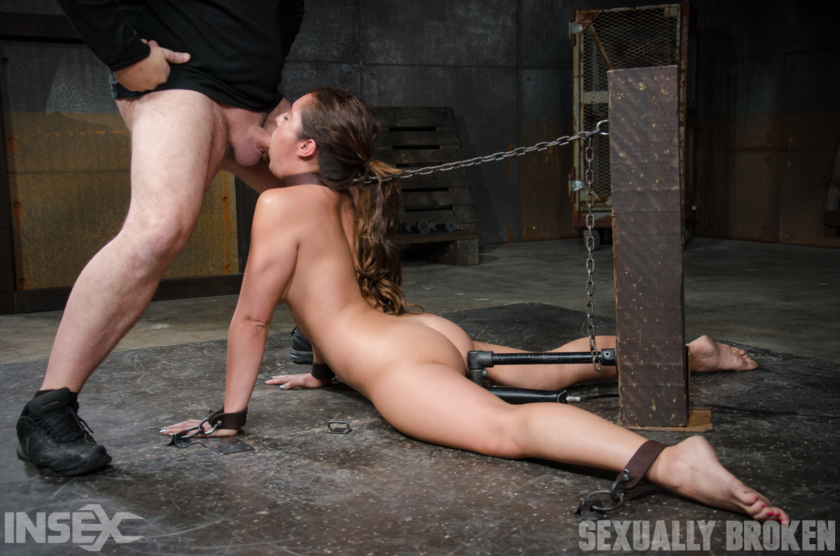 latina sex slave jean michaels is made to suck cock while