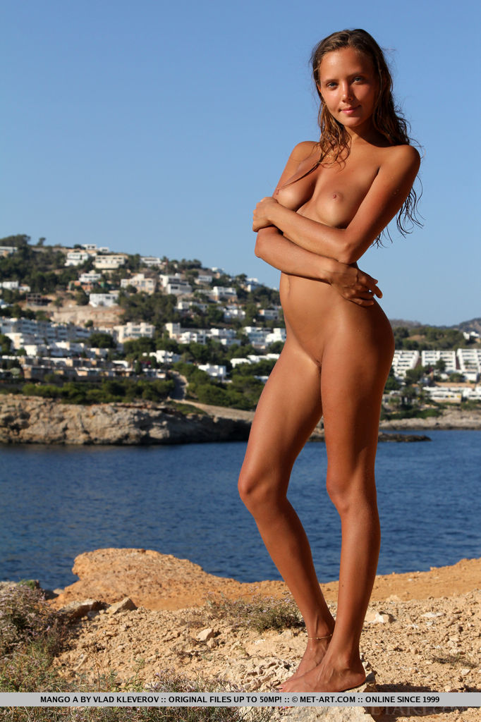 European beach nude babe dare