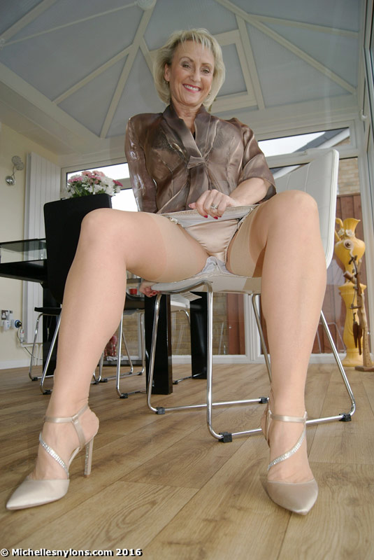 Mature women wearing nylons
