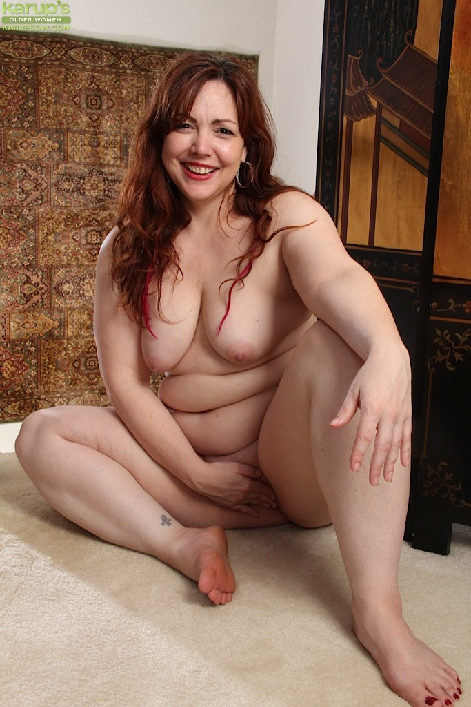 Sam recommend best of bent ovet redhead nude bbw