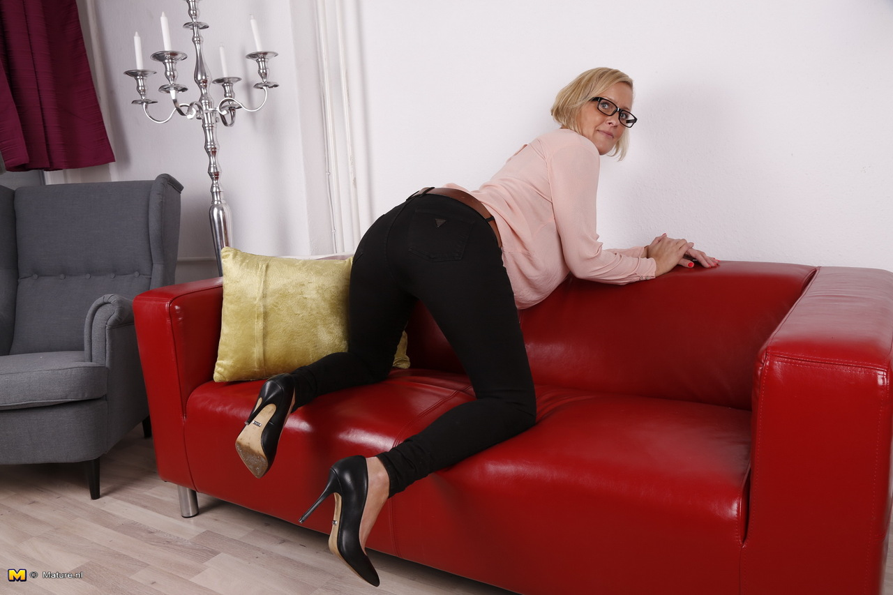 German mature plays with hubby