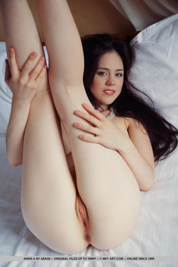 Hot pale white girl brunette