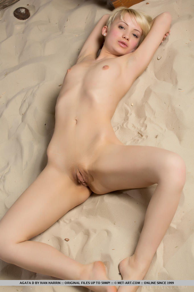 Short blonde naked