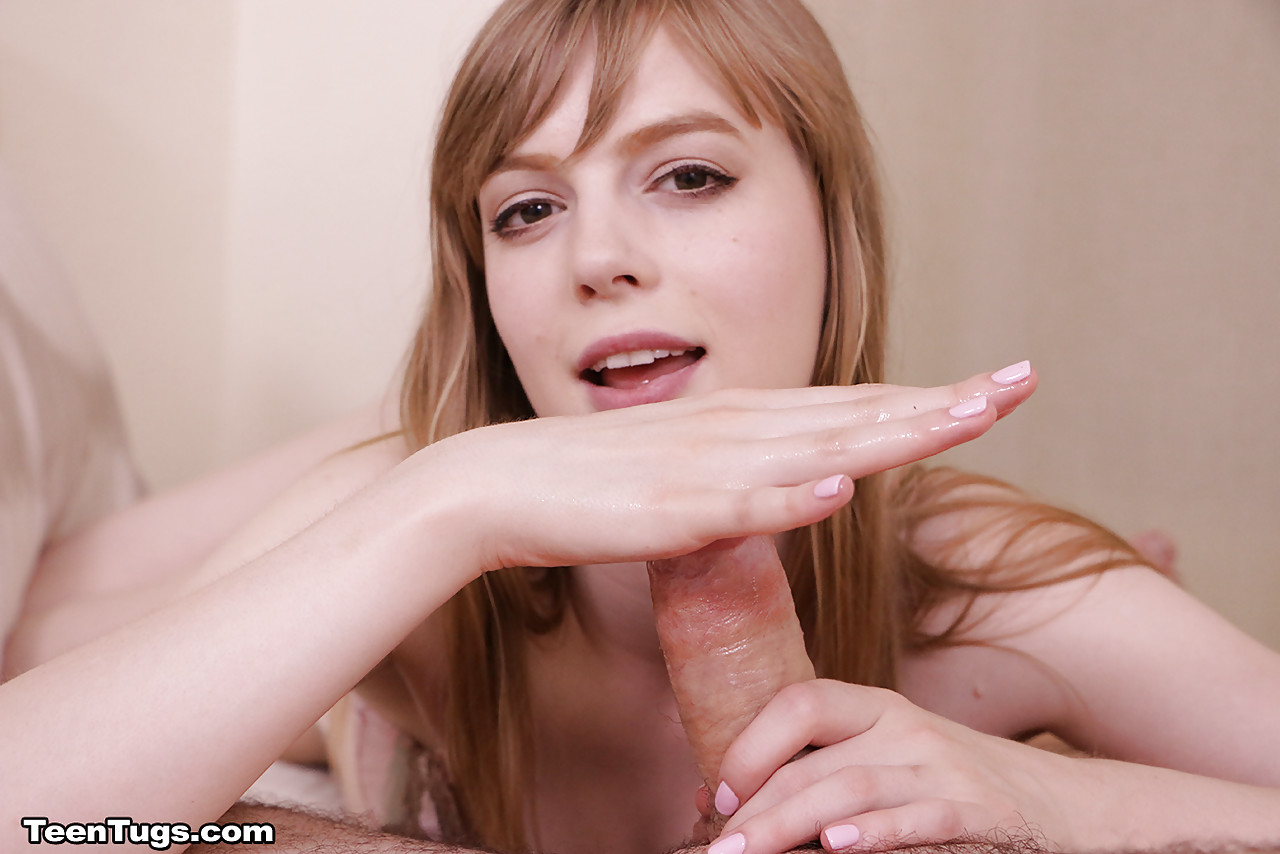 Blonde gives hot finger hand job cfnm 3
