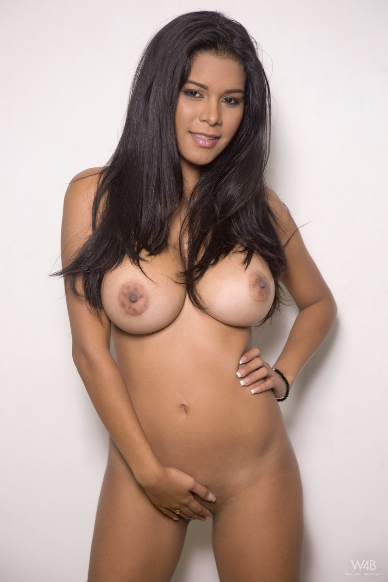 Large nude natural breasts