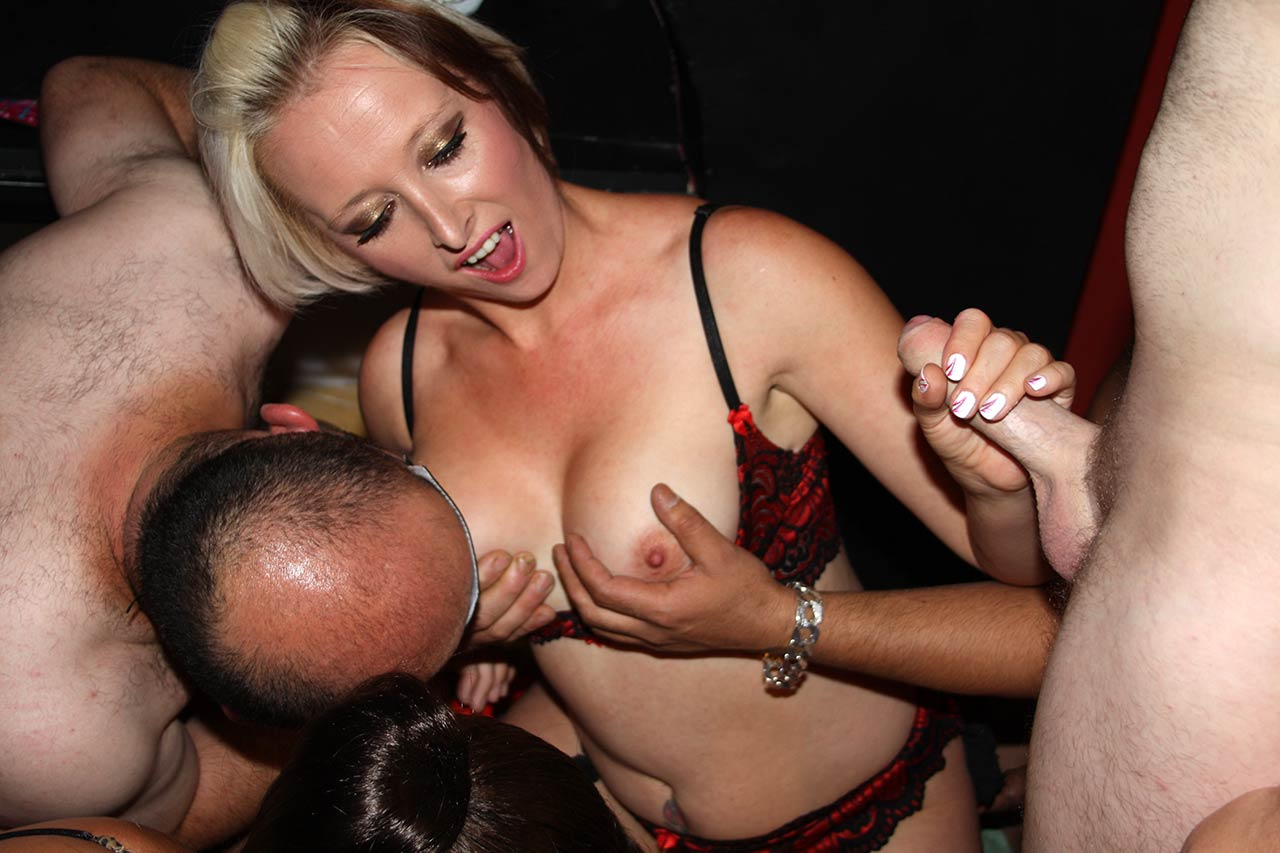 Wives teaching husbands to suck cock