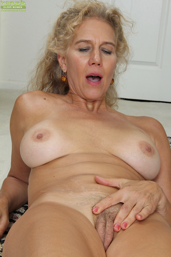 All blonde milf hairy pussy only