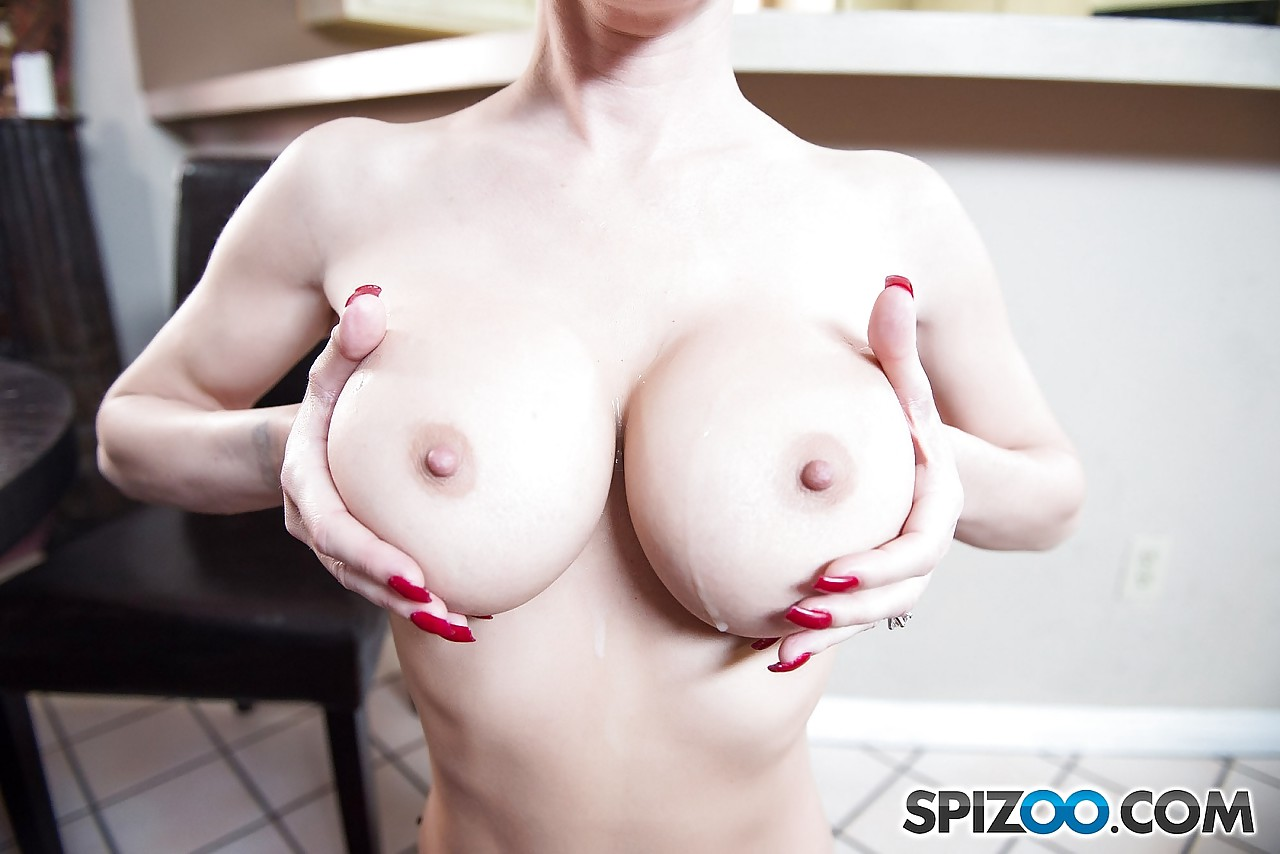 Fake titted brunette Jessica Jaymes giving titjob & sucking balls in ...