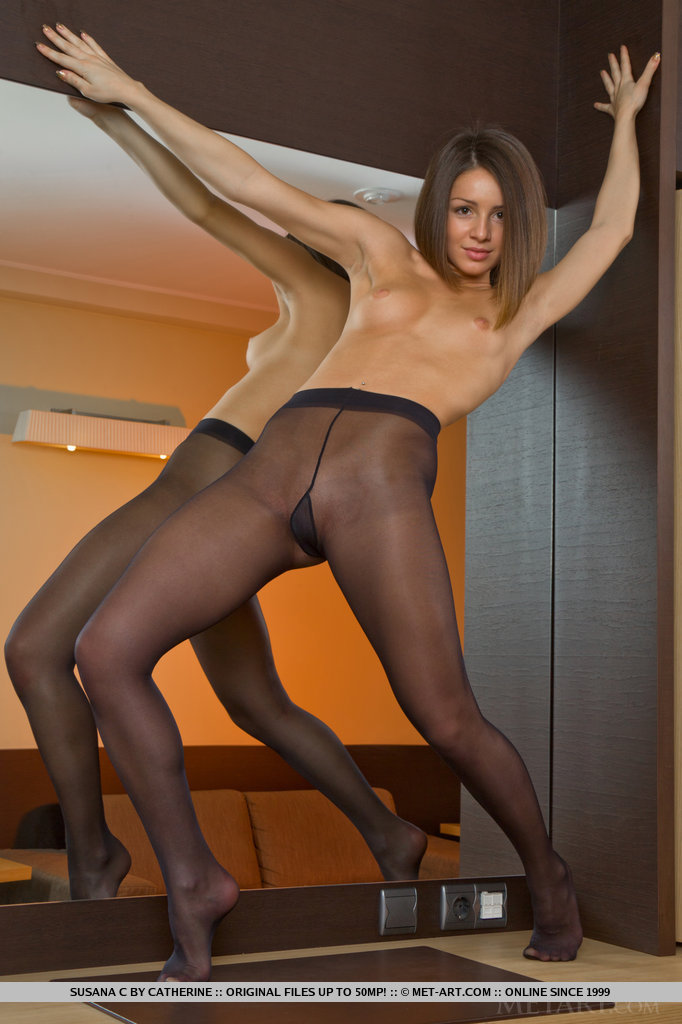 Consider, Hot shaved pussy in nylon stockings are