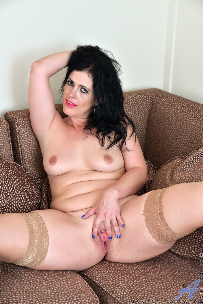 Cunt mature plumper spread
