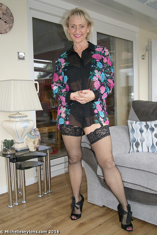 Mature neighbors in nylons