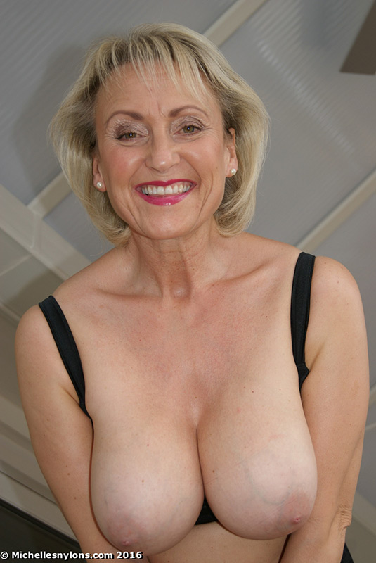 nylons Mature michelle