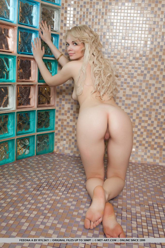 Ass Blonde Curly Hair Ivory Solo Featuring Feeona Adulttime 1