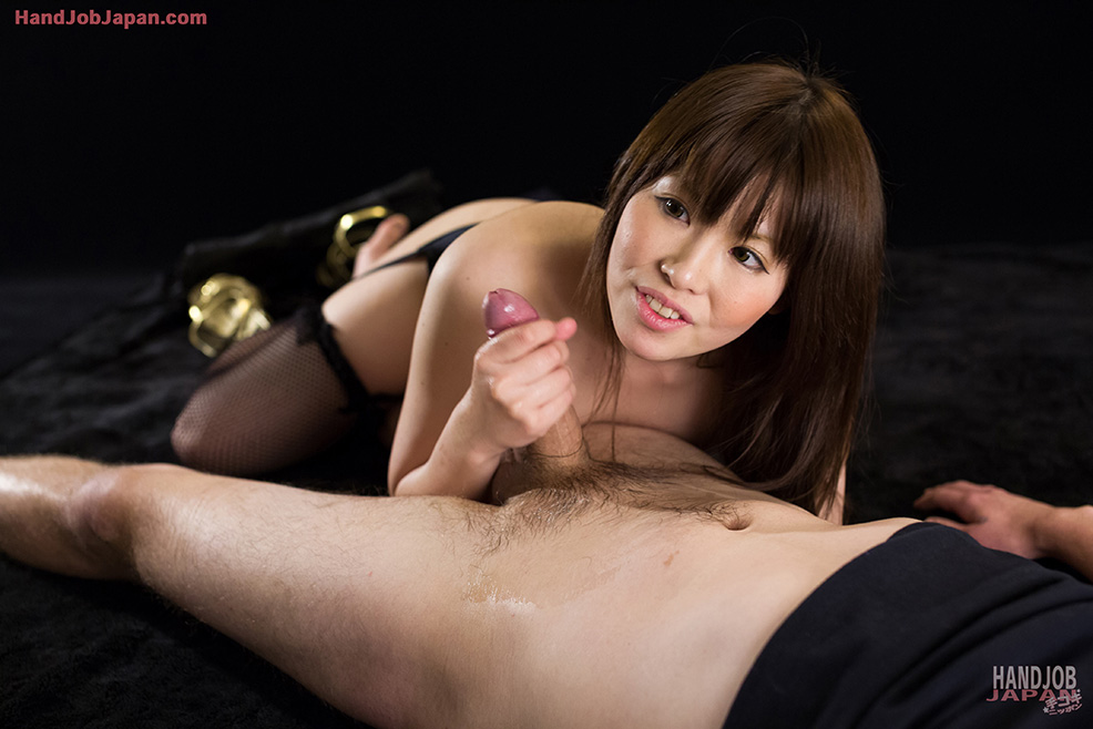 Gorgeous Asian woman sheds sexy black lingerie to give a hot ...