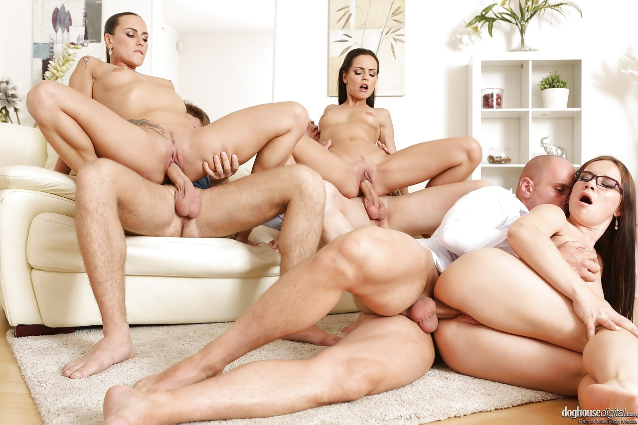 Almost same. Group large orgy