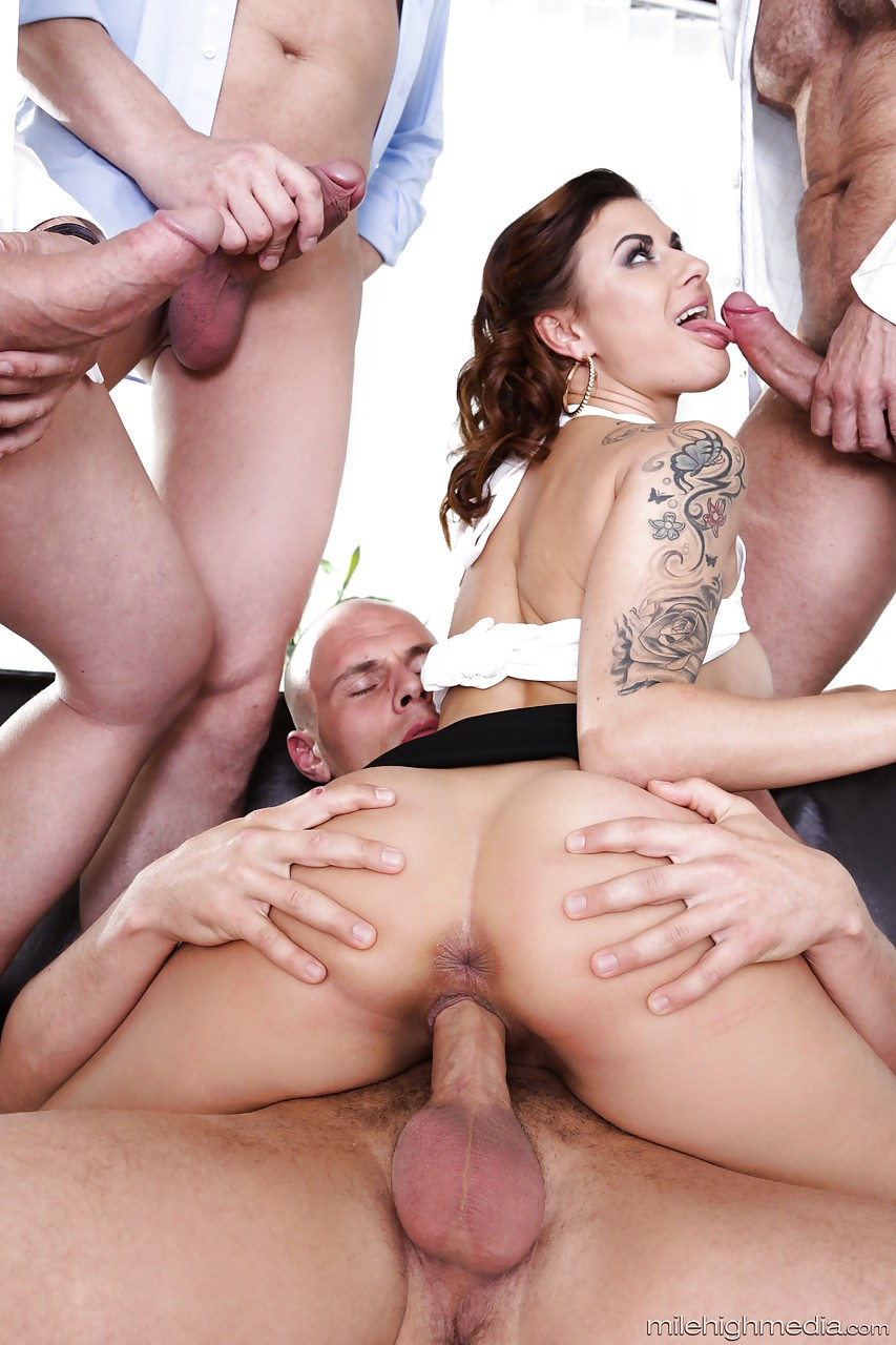 Big ass gangbang girl with