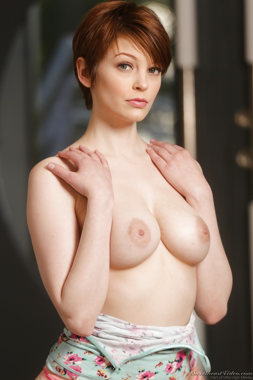 Short red hair porn