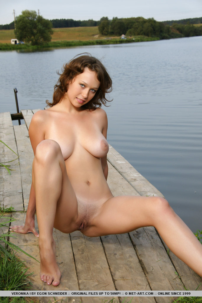 big tits at the lake