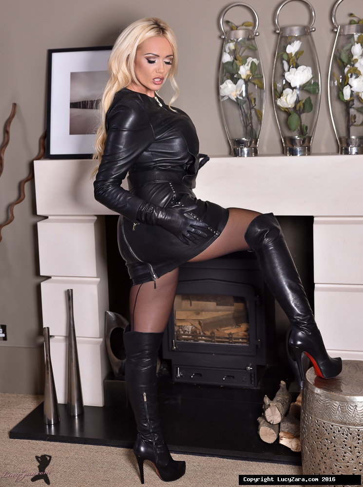 Bleached-blond bombshell Lucy Zara works roomy breasts and muff free from leather vesture porn photo #325064821 | Lucy Zara, Lucy Zara, Ass, Big Tits, Blonde, Boots, Close Up, Clothed, High Heels, MILF, Masturbation, Pornstar, Pussy, Shaved, Skirt, Spreading, Stockings, mobile porn