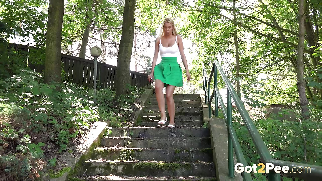 Women legs horny and outdoor spreading pissing