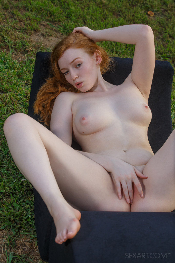 Naked redhead girls outdoors