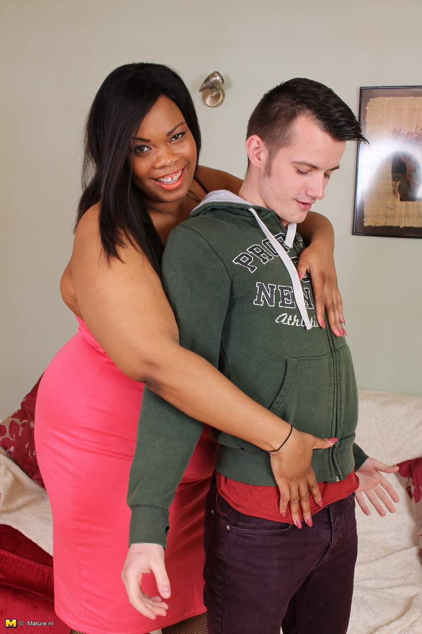 Mature Bbw Seduces Young Guy