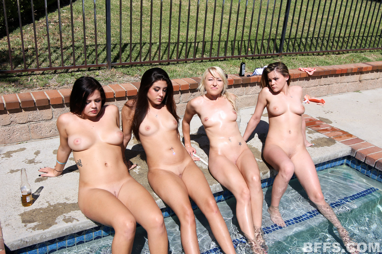 Lesbian sex pool party