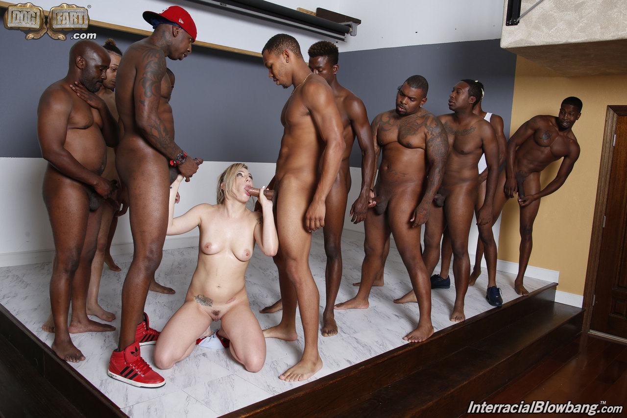 Black men gangbang