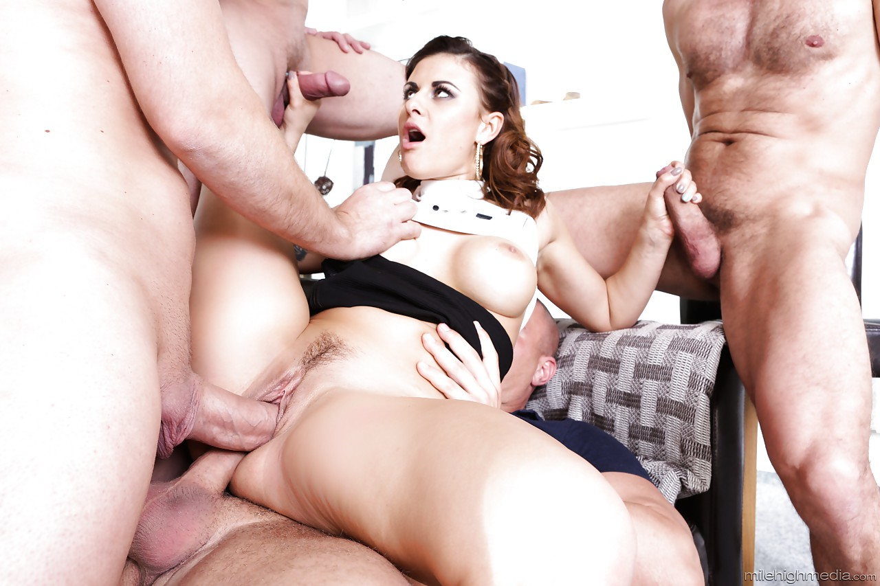 10 cocks gangbang