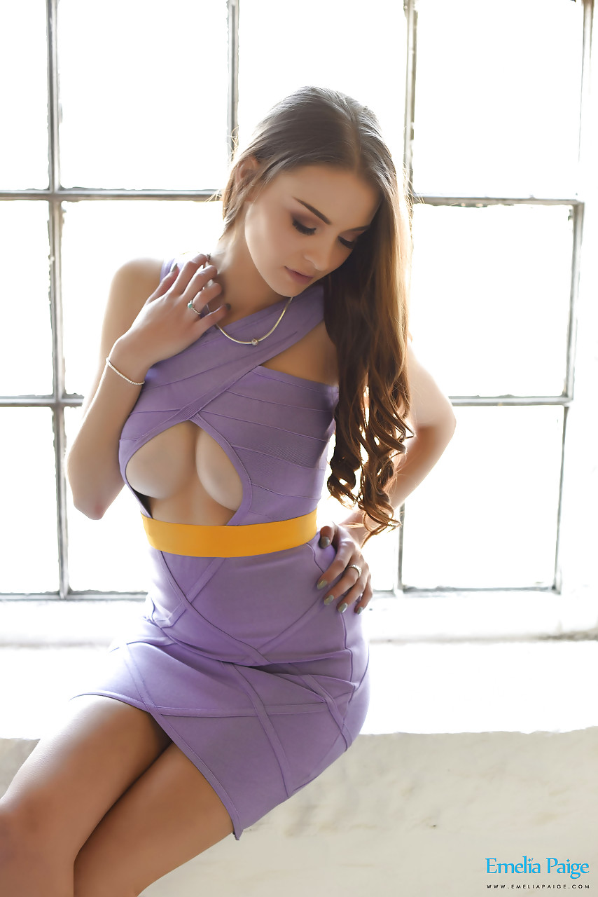 showing tits babe dress Hot in