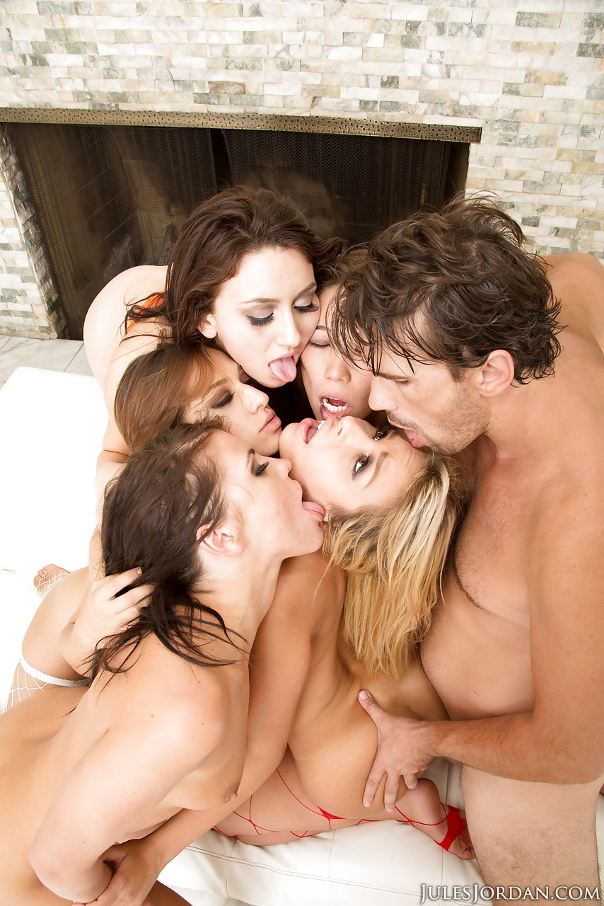 Ass licking gang bang