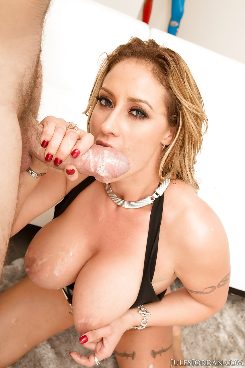 Tits cum milf mouth