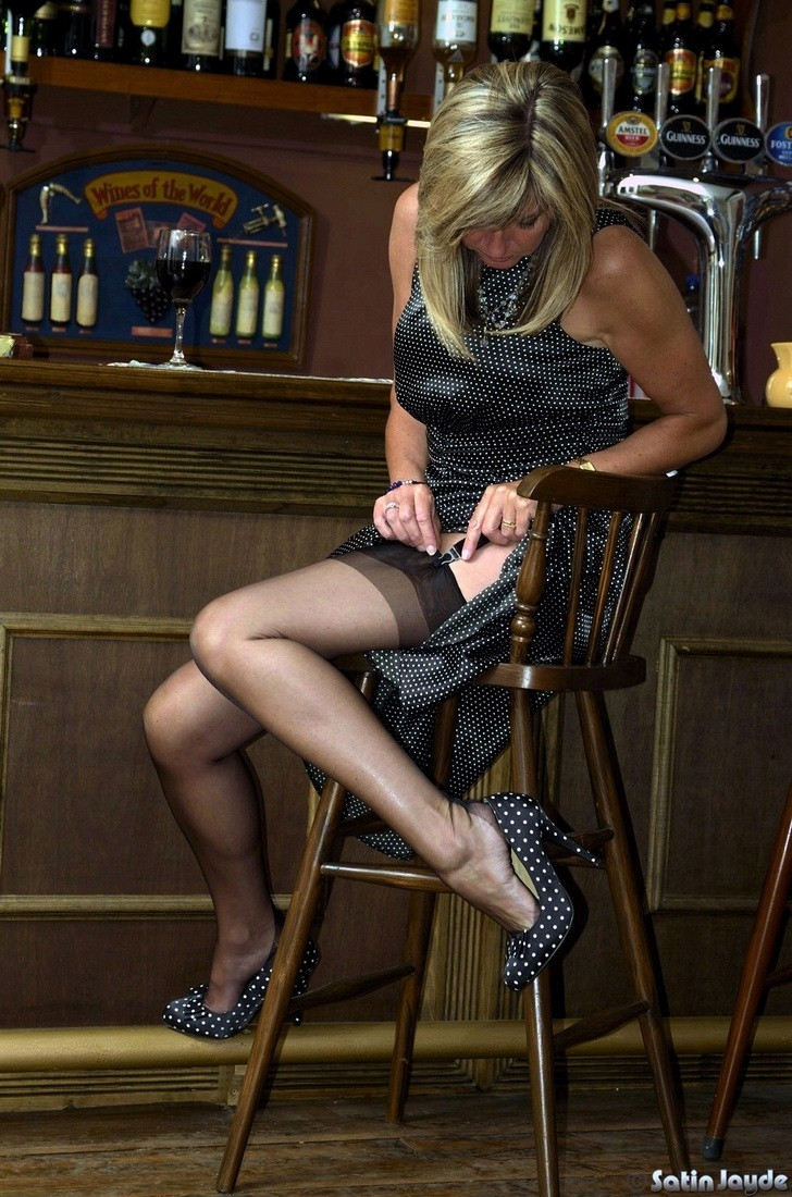 Milf public upskirt stockings interesting