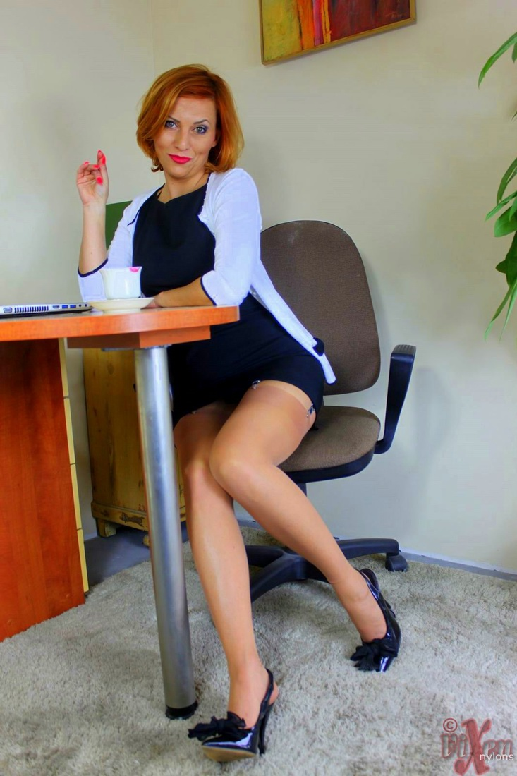Redhead Mom Vixen Nylons removes her knickers in the office for a cunt mousse porn photo #321852725 | Vixen Nylons, Vixen Nylons, Ass, Clothed, Cum In Pussy, Cumshot, Fingering, High Heels, Legs, MILF, Office, Panties, Pussy, Redhead, Secretary, Spreading, Stockings, mobile porn