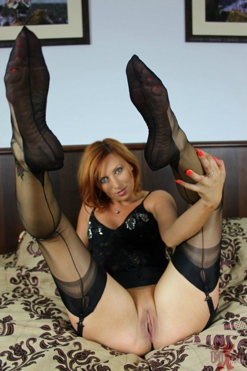 You seamed stockings wet pussy excellent